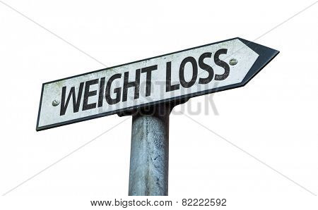 Weight Loss sign isolated on white background