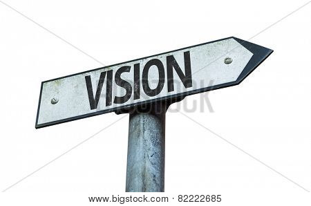 Vision sign isolated on white background