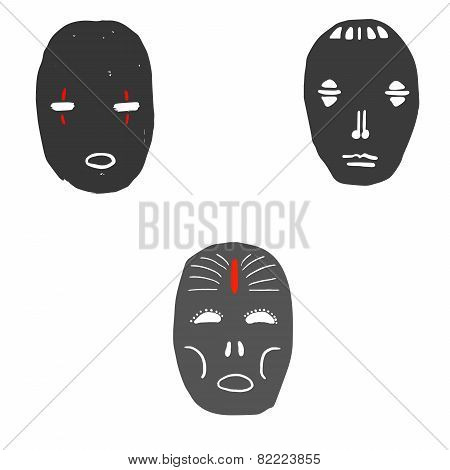 Set of ritual masks