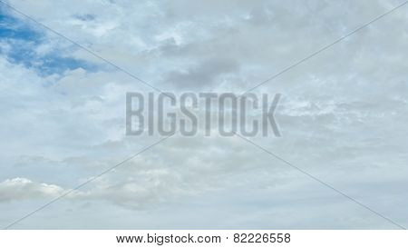 Panorama blue sky with white clouds