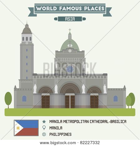 Manila Metropolitan Cathedral-basilica. Manila