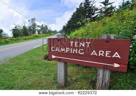 Tent camping on Blue Ridge Parkway