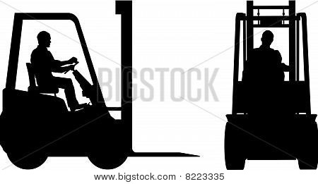 Fork Lift trucks Front And Side Views