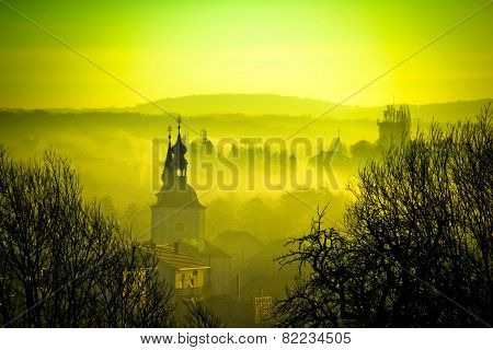 Golden Dawn In Easter European Town Of Krizevci