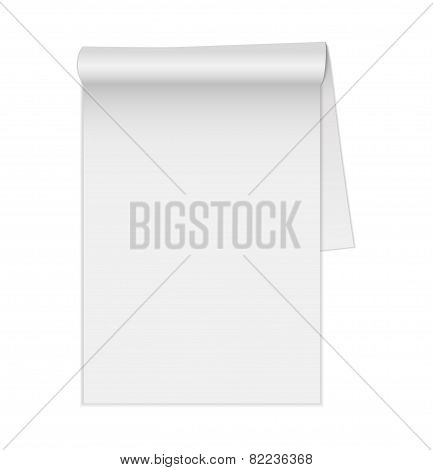 Blank legal pad. Vector.