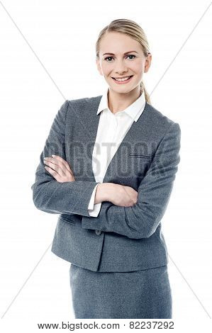 Casual Business Woman Posing