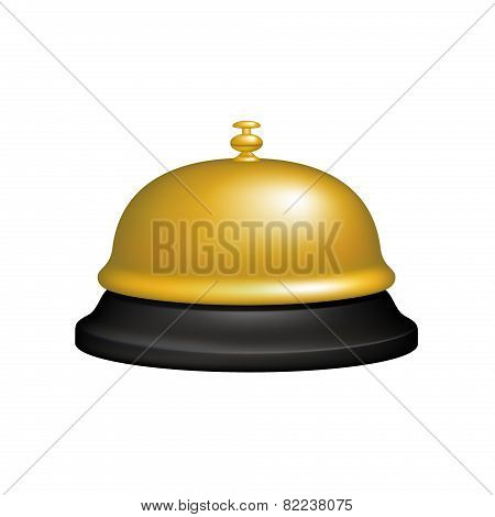 Service bell in black and golden design
