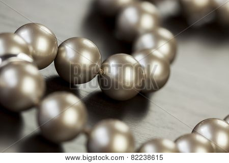 String Of Shiny Grey Beads