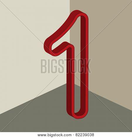 vector number 1