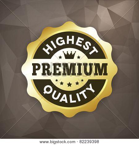 Highest Premium Quality Business Gold Label