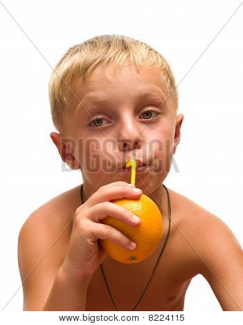 Child With An Orange.