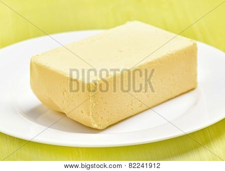 Butter On White Plate