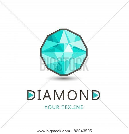 vector diamond, jewelry logo, icon isolated