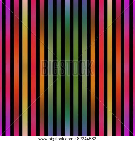 Seamless metallic paint effect colorful stripes on black.