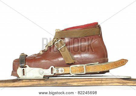 ski boots ski bindings vintage