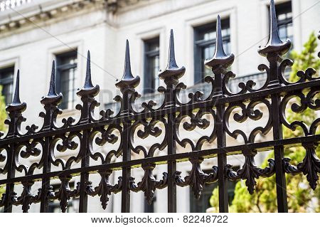 Old Black Ornate Fence