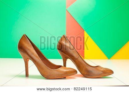 Brown High Heels Shoes