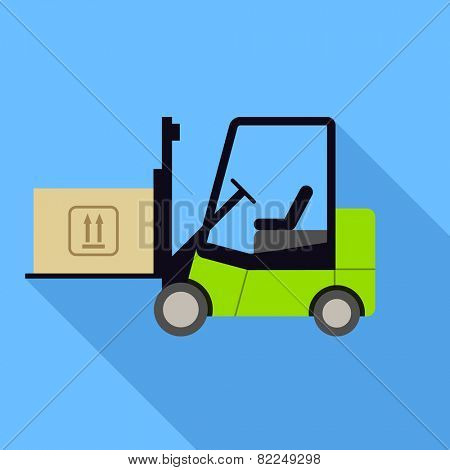 Forklift icon. Flat Design vector icon