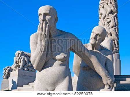 Oslo. Norway. The Vigeland Park. Two old women