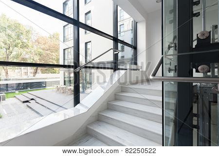 Stairs In Corporate Building