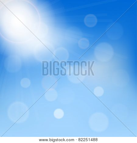 clouds in the blue sky,