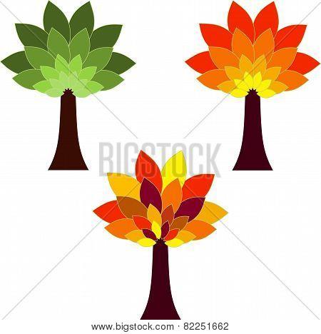 Isolate Tree Vectors, Seasonas Tree Vectors
