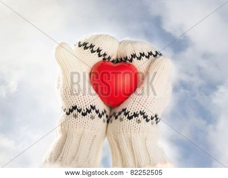 Little Girl Holding Heart