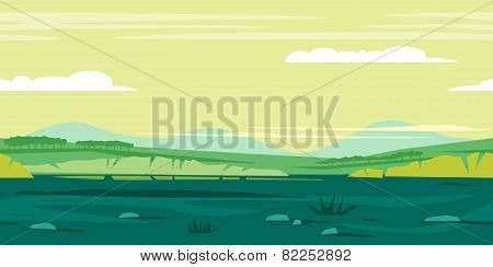 Meadows Game Background Landscape