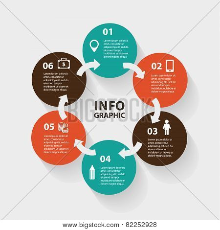 Vector circle abstract arrows infographic. Template for diagram, graph, presentation and chart. Busi