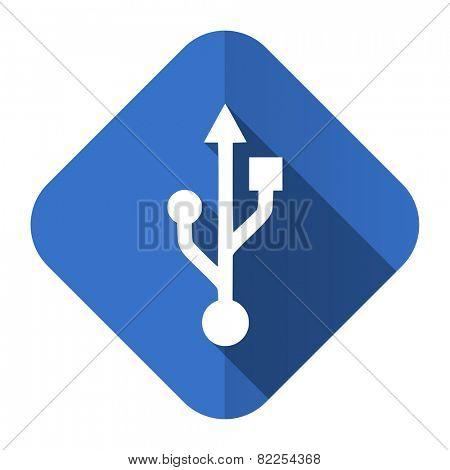 usb flat icon flash memory sign