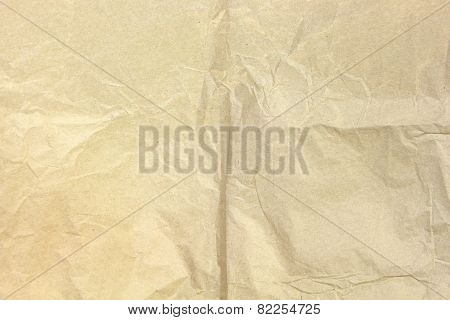Old Recycled Blank Crumpled Paper Background