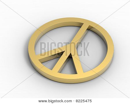 Golden Peace Sign