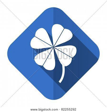 four-leaf clover flat icon