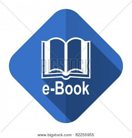 book flat icon e-book sign