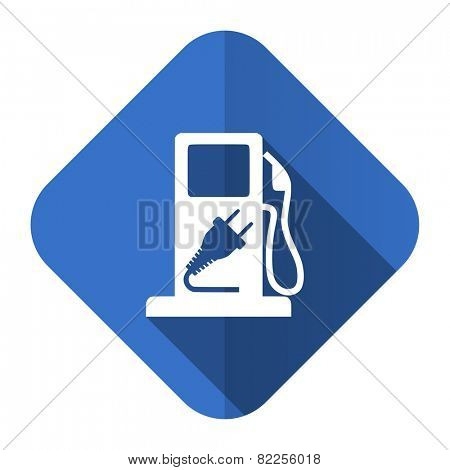 fuel flat icon hybrid fuel sign