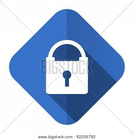 padlock flat icon secure sign