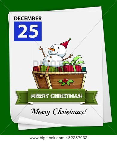 Illustration of December 25 is Christmas day