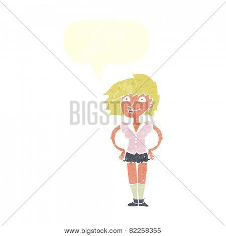 cartoon woman with hands on hips
