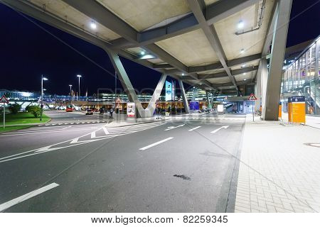 COLOGNE, GERMANY - SEP 18: area near airport on September 18, 2014. Cologne Bonn Airport is the international airport of Cologne and also serves the former German capital, Bonn