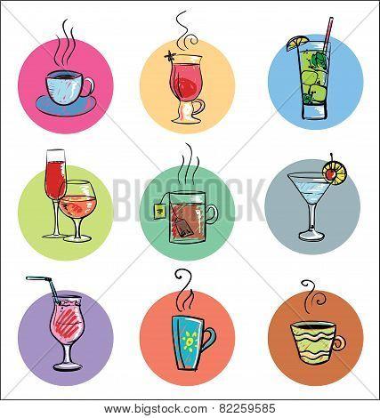 Set of Sketchy Drinks