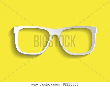 Vector glasses frame