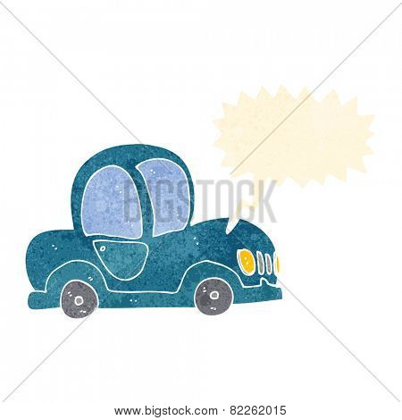 cartoon car honking horn