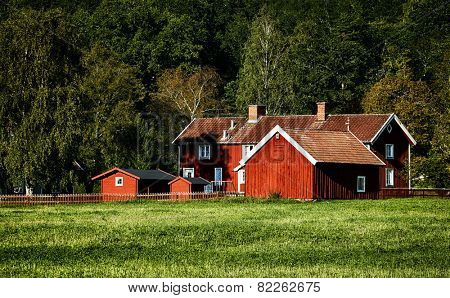old wooden farm set in a beautiful rural surrounding