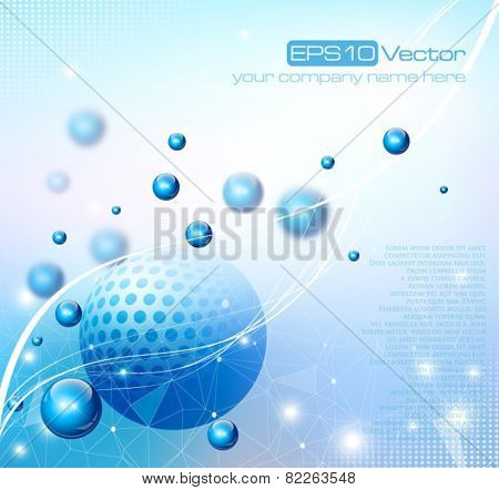 Abstract depth of field background composition. Vector illustration