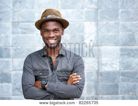 Happy Young Guy With Hat