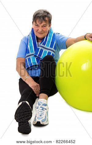 Senior Woman At Gym