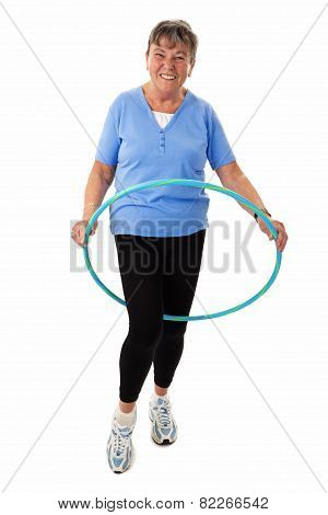 Senior Woman With Hula hoop