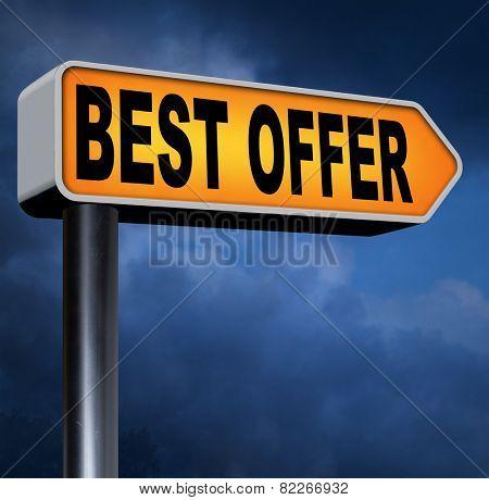 best offer lowest price deal for value web shop or online promotion road sign