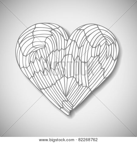 Hand drawn heart, vector eps10 illustration