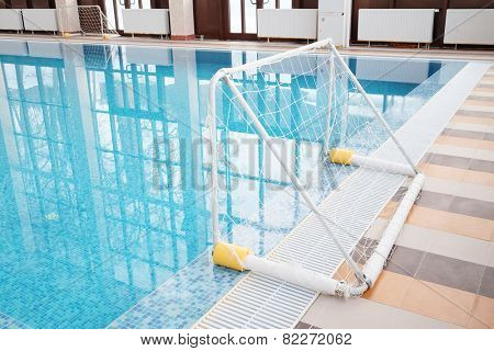 Water polo gate in the indoor pool